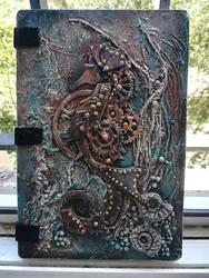 Steampunk Sea Horse / Blank Journal / Notebook