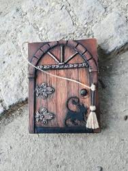 Blank journal - medieval door
