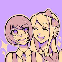 Mahiru Koizumi and Sonia Nevermind by Yiroko
