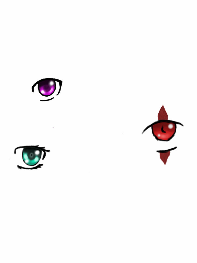Anime style eyes. by AmberAmy