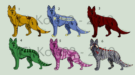 $Point Adoptables - Dog Set 1 by Kole92