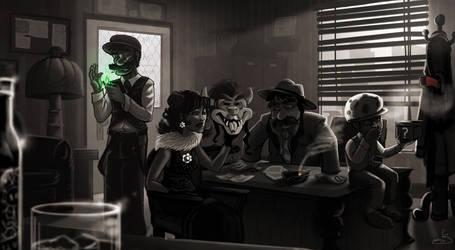 Super Noir'io Bros. by oGuttermoutho