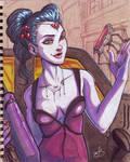 Sketchbook page #6 - Widowmaker