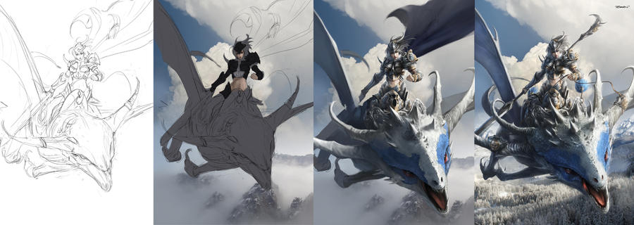 Step By Step to Sky Rider by Zeen84