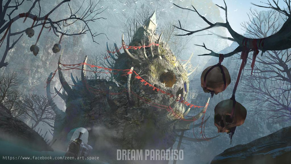 Dream Paradiso environment concept art by Zeen84