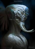 Dream Paradiso concept art Warrior by ZeenChin