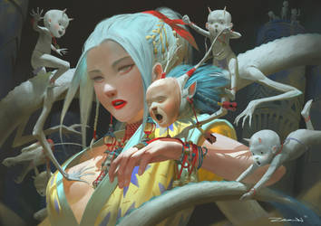 Dragon Spirit by ZeenChin
