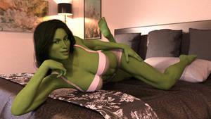 She-Hulk Boudoir by lilacwren