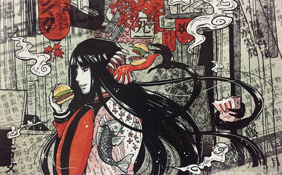 Futakuchi Onna By Sabnock On Deviantart