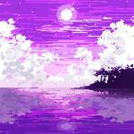 Purple world - pixel art