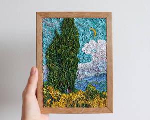 Van Gogh's Cypresses