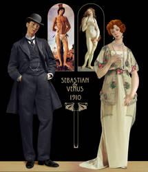 Botticelli's Venus and Sebastian 1910