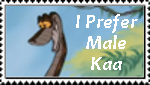 I Prefer Male Kaa Stamp by AmandaTaylor