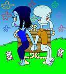 Show Style Simone And Squidward by AGreyLizard