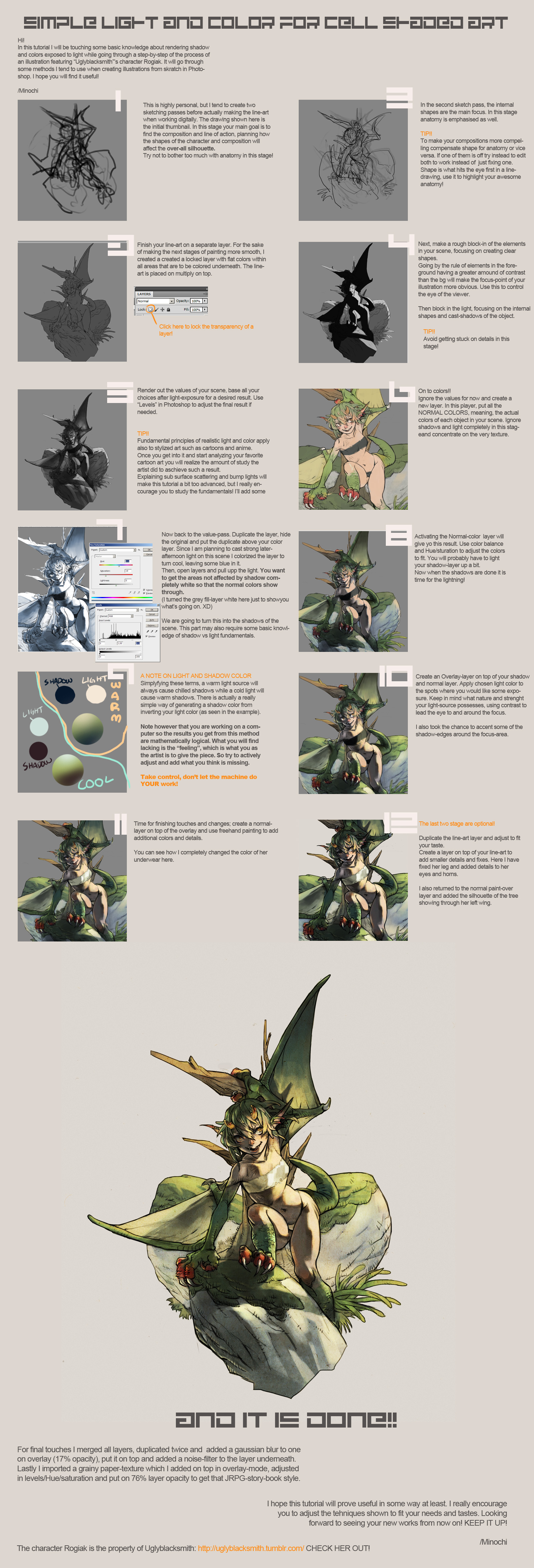 Coloring tutorial by Minochi