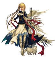 Annastasia in maid costume by edenfox
