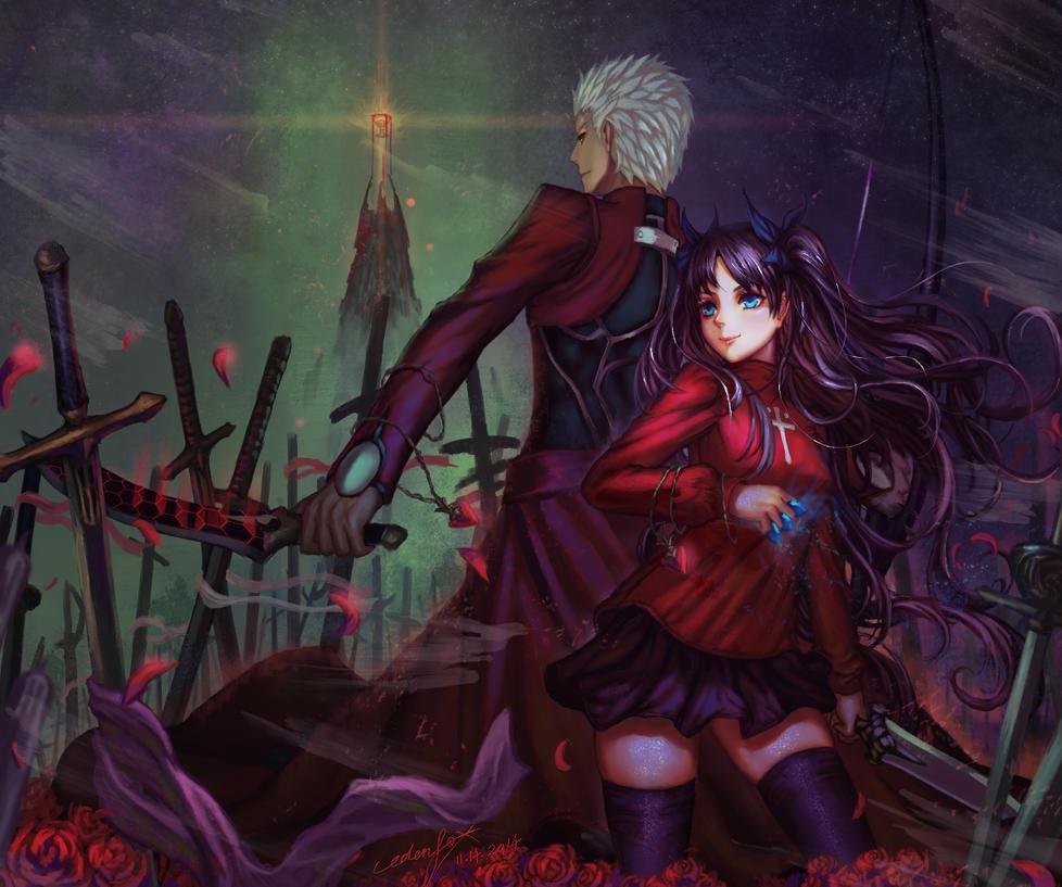 Rin Tohsaka X Archer by edenfox