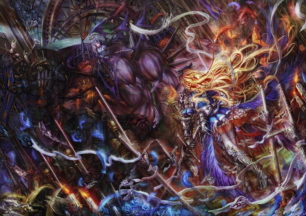 Alice VS Red Legion by edenfox