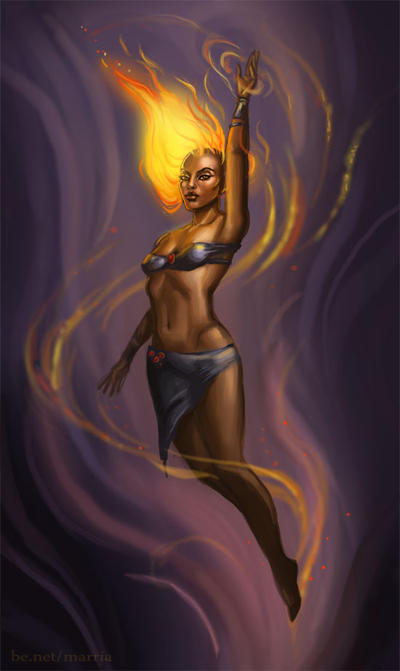 The Fire Goddess visits by merriya