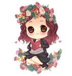 chibi flowers by runawaywithyou