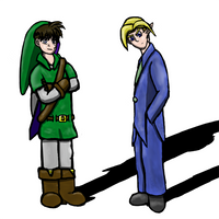 Shinichi and Link Swap Clothes