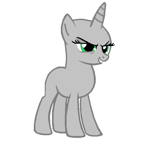 Mlp Grey Ponies Base Ms Paint Friends