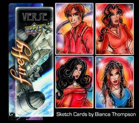 Firefly sketch cards by BiancaThompson