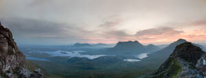 Stac Pollaidh Panoramic Sunrise