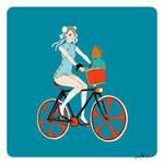 Chun-Li rides her Rad Bike with a Sweet Blanka Toy