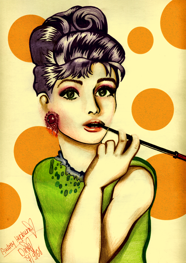 Colors With Audrey Hepburn by BeautifulFlowertje