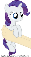 Rarity on hands by JustisAnimation