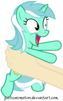 Lyra on hands! by JustisAnimation