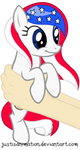 Country-Pony (USA) on hands by JustisAnimation