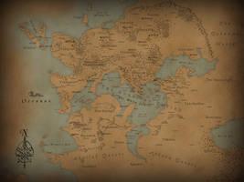 Acherusis World Map by JGellert
