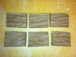 6 Raw Clay Tiles by furocious-studios