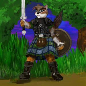 Captain Furocious - Scottish Warrior