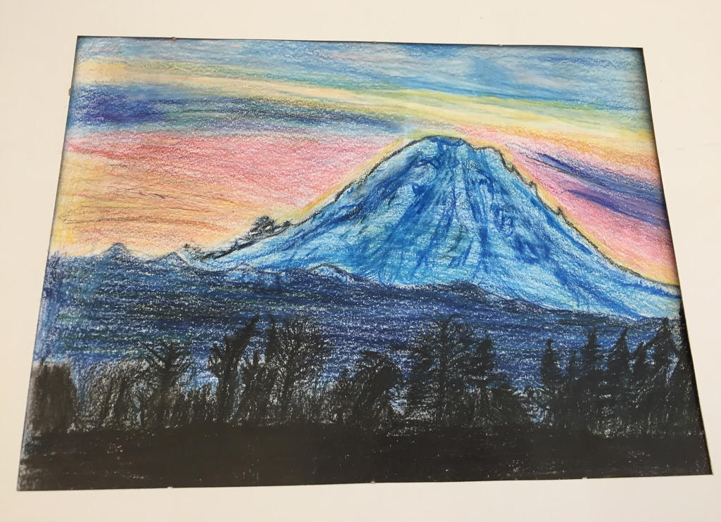It's just a graphic of Peaceful Mt Rainier Drawing