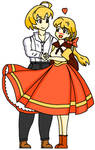 Ramza and Alma 2021 - Wind-whipped by Myst-Knight-Reborn