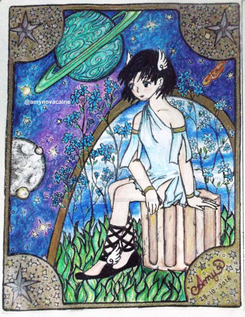 Ami Mizuno art noveau (colored version)