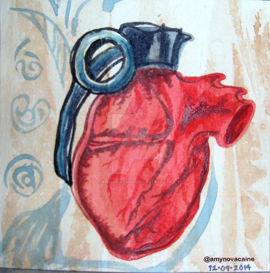Heart like a hand granade by AmyNovacaine