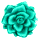 Misc Icon - 006 Rose Teal by BAKASHiYOU