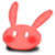 Animal Icon - 008 Bunny Red R by BAKASHiYOU