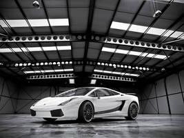 White Lamborghini Superleggera
