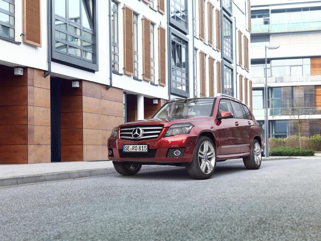 Rubyred Mercedes GLK by MUCK-ONE