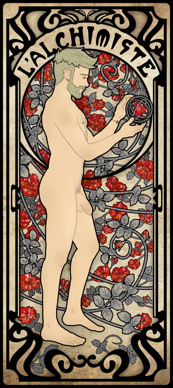 The Alchemist card - NSFW by OnirikWay