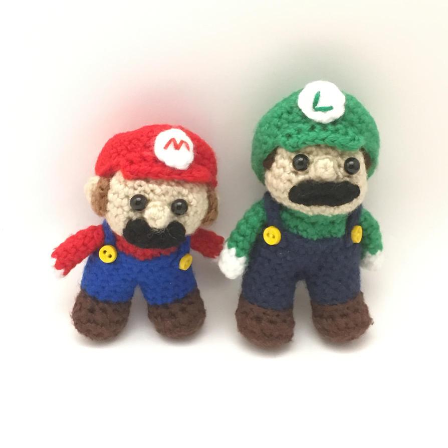 Amigurumi Mario Brothers by Yarnigurumi