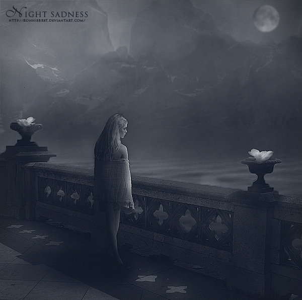 Night Sadness by RonnieBret
