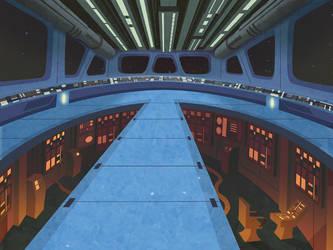 Cartoony Star Destoyer Bridge by jusscope