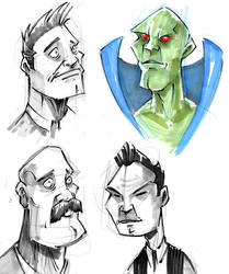 Sketch Bomb Dudes 1 by jusscope