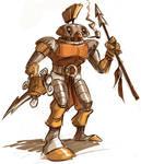 Biomech Warrior Fella by jusscope